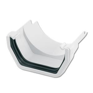 Square (White)/Half-Round (Cast Iron) Gutter Adaptor